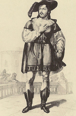 Il pirata - Rubini as Gualtiero in the premiere production