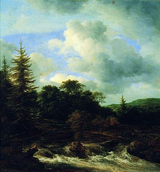 A Waterfall in a Rocky Landscape - Image: Ruisdael Mountain stream