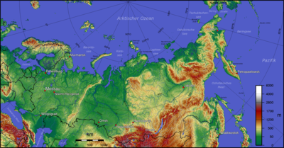 Cartina Fisica Della Russia Europea.Geografia Della Russia Wikipedia