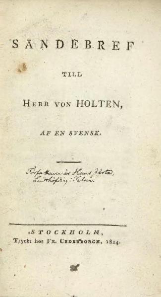 File:Sändbref til Herr von Holten.djvu