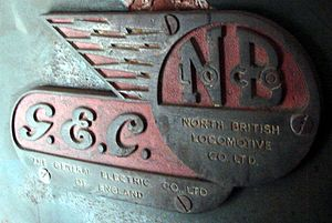 South African Class 4E - GEC and NBL logos on the end doors