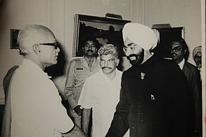 S. Alagarsamy - S. Alagarsamy with the President of India Hon Giani Zail Singh.
