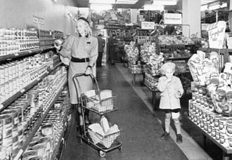 Supermarket - A supermarket in Sweden in 1941