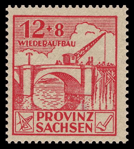 Postage Chart: SBZ Provinz Sachsen 1946 88A Wiederaufbau.jpg - Wikimedia Commons,Chart