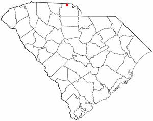 Clover, South Carolina - Image: SC Map doton Clover