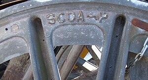 SCOA-P wheel - SCOA-P wheel centre detail (tyre removed)