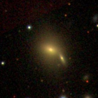 NGC 6043 - SDSS image of NGC 6043. The small galaxy at the lower right portion of NGC 6043 is PGC 1541265.