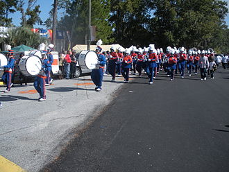 Savannah State University - Savannah State University's Marching Band during the 2008 Homecoming celebration
