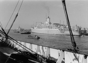 SS Orcades (1947) - Image: SS Orcades (1948) Port Said 1957