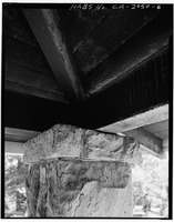 STRUCTURAL DETAIL OF PORCH ROOF - H. P. Dyer House, 16055 Sanborn Road, Saratoga, Santa Clara County, CA HABS CAL,43-SARA,4-6.tif
