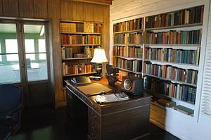 Eugene O'Neill National Historic Site - O'Neill's study in Tao House, where he wrote many of his last works