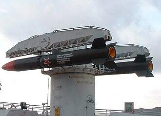 RPK-1 Vikhr - SUW-N-1 missile launcher on the aircraft carrier Minsk