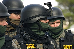 SWAT - Marion County SWAT Team members during a training exercise.