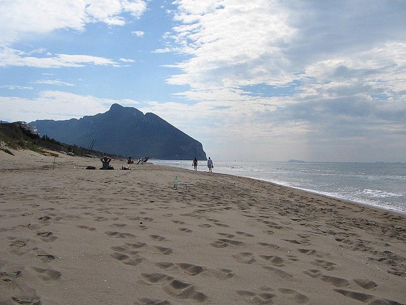 Stranden i Sabaudia er med på listen