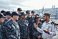 Sailors stationed aboard USS Carney (DDG 64) tour an Israeli ship while in port Haifa, Israel 160221-N-FP878-028 (24821264509).jpg