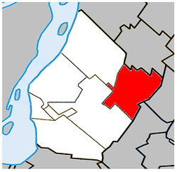 Location within Urban Agglomeration of Longueuil