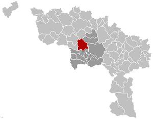 Saint-Ghislain - Image: Saint Ghislain Hainaut Belgium Map