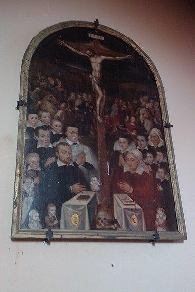 Peinture XVIe dans l'église Saint-Pellerin