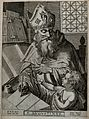 Saint Augustine of Hippo. Line engraving by P. Cool after M. Wellcome V0031645.jpg