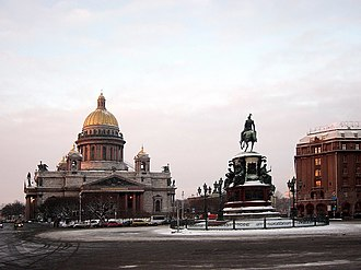 Saint Isaac's Square - View from Mariinsky Palace on St. Isaac's Cathedral.