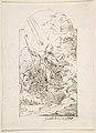 Saint Januarius Saving Naples from an Eruption of Mt. Vesuvius. Verso- Small sketch of similar scene. MET DP809808.jpg