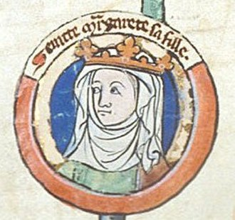 Scotland in the High Middle Ages - St Margaret of Scotland, wife of Máel Coluim III, from a later genealogy