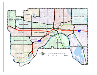 Neighborhoods in Saint Paul, Minnesota - A map of neighborhoods of Saint Paul, Minnesota.
