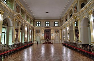 Great Sejm - Royal Castle Senate Chamber, where May 3 Constitution was adopted