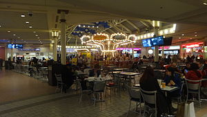 Mall at Rockingham Park - The mall food court as seen on January 1, 2014. The carousel has since been demolished as part of a renovation.