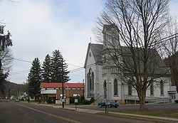 Salladasburg United Methodist Church and Cohick's Trading Post