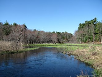 Salmon Brook (Merrimack River tributary) - Salmon Brook in Dunstable, Massachusetts