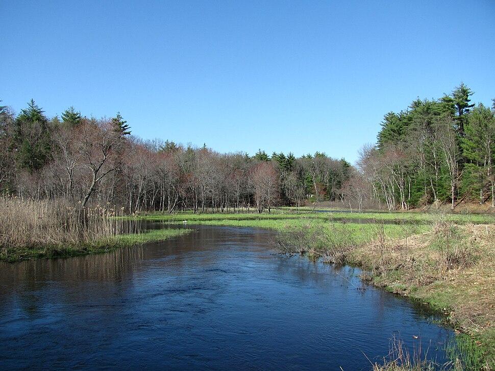 Salmon Brook looking downstream, Dunstable MA