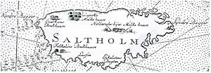 Karte von 1775 (Norden ist links)