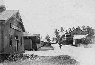 Samarai - A commercial street scene on Samarai from 1906