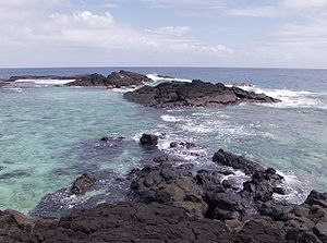 Falealupo - Looking west at the western tip of Savai'i