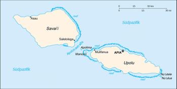 Samoa konumu