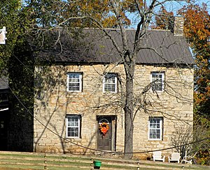 "Tennessee marble - The 18th-century ""Old Stone House"" near Friendsville, Tennessee, built of brown Tennessee marble"