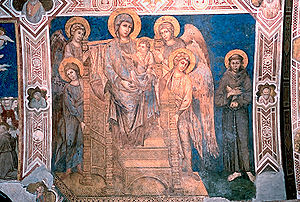 Cimabue - Fresco in the Lower Basilica of Assisi