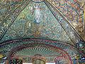 San vitale, ravenna, int., presbiterio, mosaici volta e arcone 08.JPG