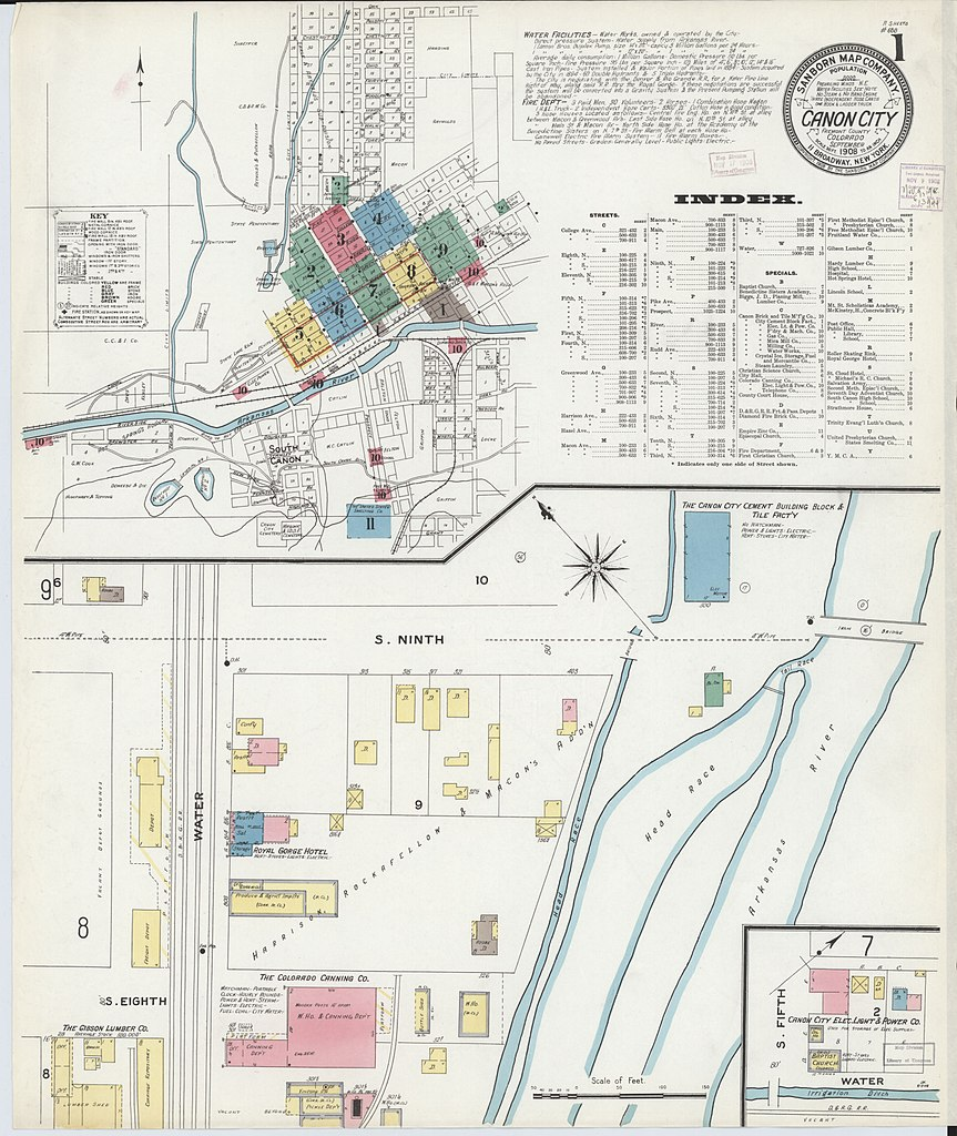 Canon City Co Map on