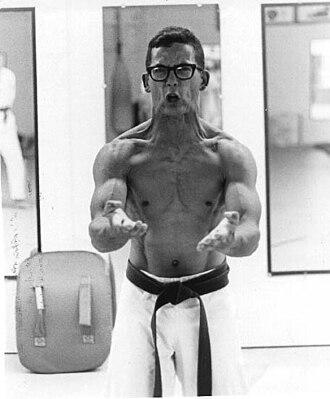 Arcenio James Advincula - A. J. Advincula practicing Sanchin Kata, 1979