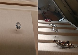 Sancy - The Sancy, a pale yellow diamond of 55.23 carats (11.046 g)