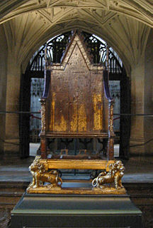 coronation chair of British monarch