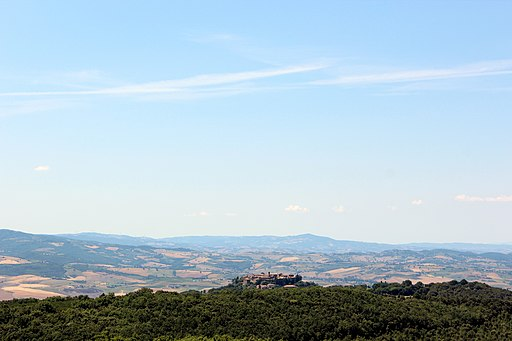 Panorama of Sant'Angelo in Colle, hamlet of Montalcino