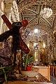 Santa María Tonantzintla, Cristo en la puerta principal. 00416.jpg