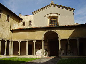 Santa Maria Maddalena dei Pazzi - The entrance with the portico