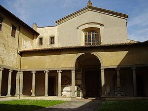 Santa Maria Maddalena dei Pazzi - The entrance with the portico