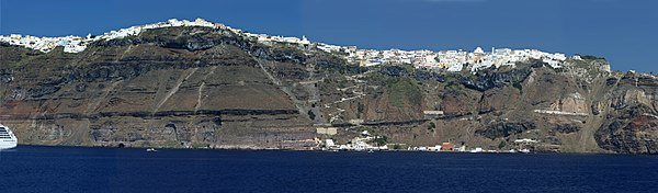 Panoramic view of Santorini's principal city, Fira