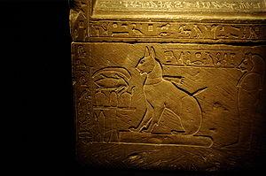 Thutmose (prince) - Sarcophagus of Prince Thutmose's cat, Ta-miu