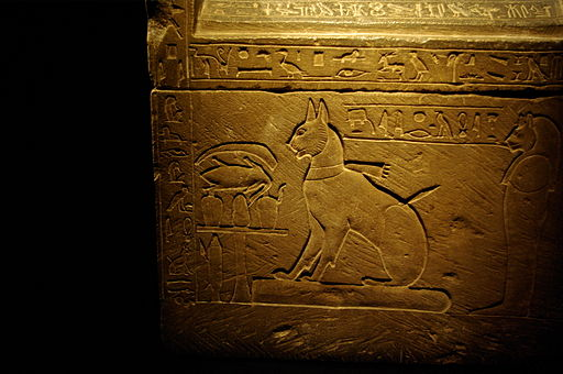 Sarcophagus of Prince Thutmose's cat.  Photo Credit: Larazoni